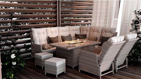 Bari XL mit Feuertisch