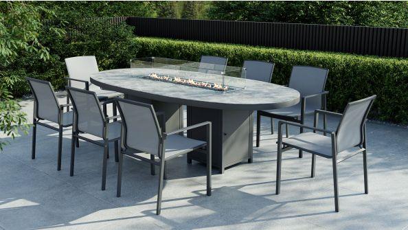 Cadora Dining XL mit Feuertisch