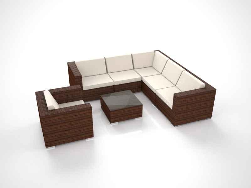 artelia lounge garten eckcouch aus polyrattan im angebot kaufen. Black Bedroom Furniture Sets. Home Design Ideas
