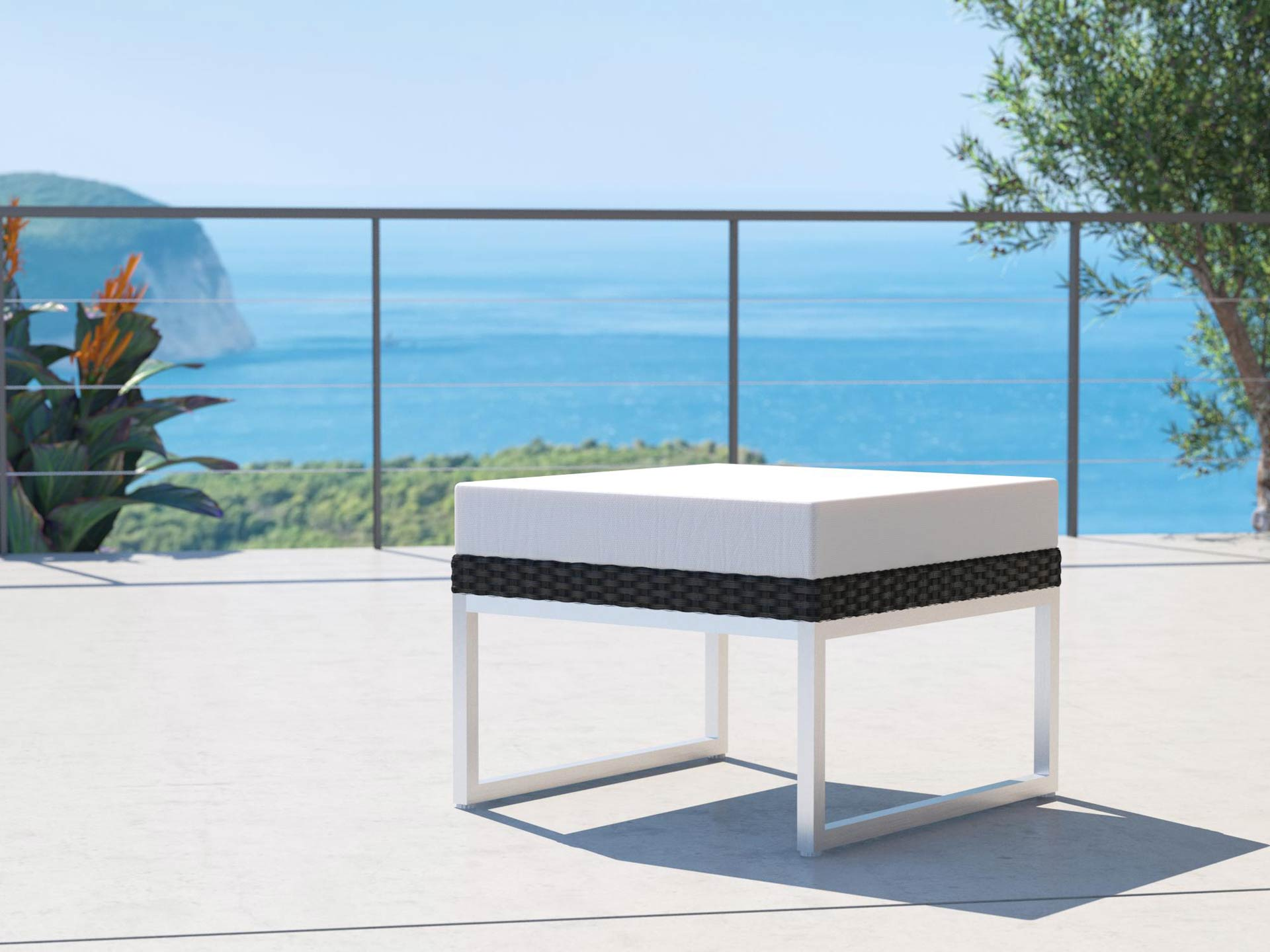 artelia polyrattan hocker alivera. Black Bedroom Furniture Sets. Home Design Ideas