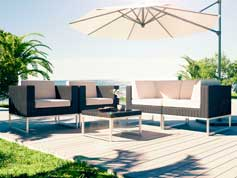 Alivera S - Polyrattan Bank Set