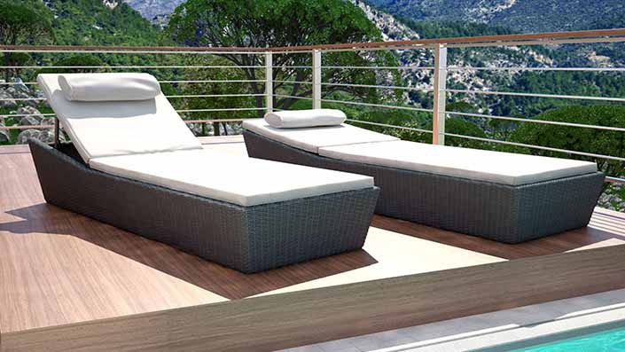 artelia rattanliegen und gartenliegen aus polyrattan kaufen. Black Bedroom Furniture Sets. Home Design Ideas