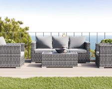 Annabell - Polyrattan Bank Set