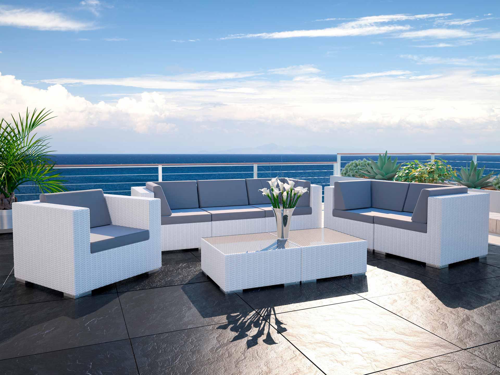 artelia polyrattan garnitur im lounge stil athena l. Black Bedroom Furniture Sets. Home Design Ideas
