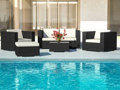 Athena S - Polyrattan Bank Set