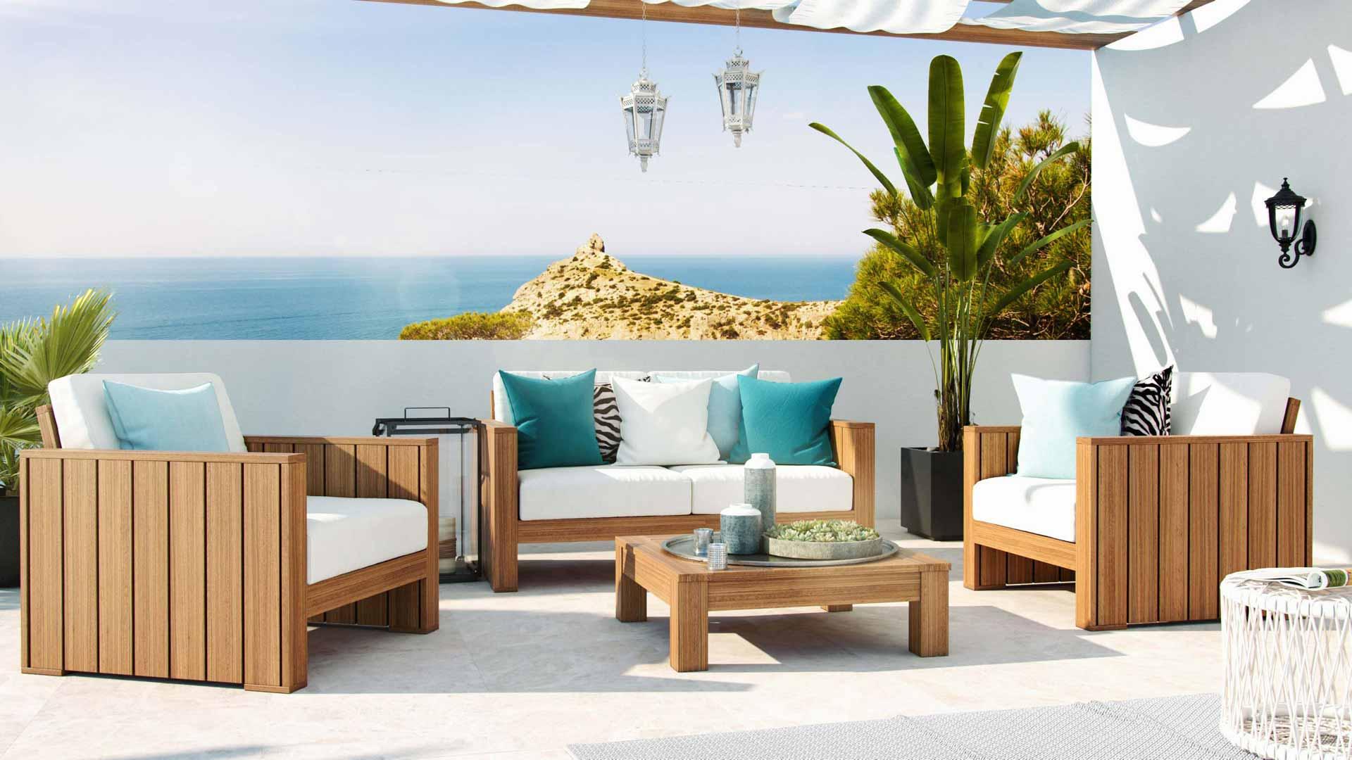 artelia jetzt das holz lounge set becky kaufen. Black Bedroom Furniture Sets. Home Design Ideas