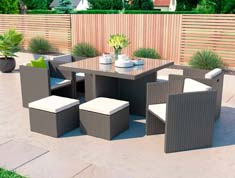 Boreas M - Polyrattan Bank Set