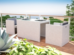 Boreas S - Polyrattan Bank Set