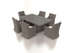 Catalaya L - Polyrattan Bank Set