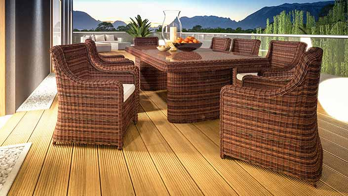 artelia rattan esstisch set und essgruppen aus polyrattan g nstig kaufen. Black Bedroom Furniture Sets. Home Design Ideas