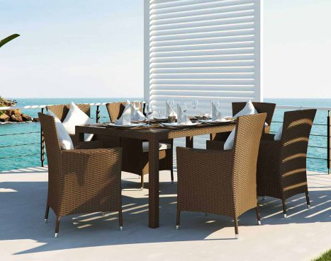 Ceres M - Polyrattan Bank Set