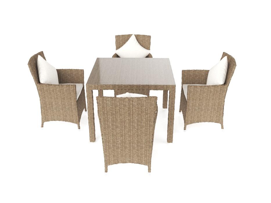 ARTELIA | Terrassen Esstisch Set für 10 Personen aus Polyrattan