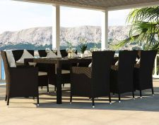 Ceres XL - Polyrattan Bank Set