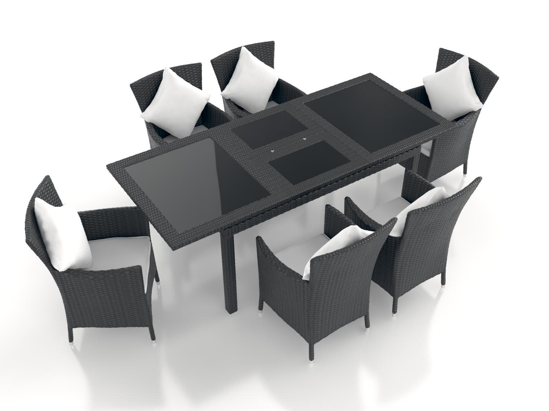 Esstisch Set Günstig ~ ARTELIA  Jetzt günstig ein Polyrattan Esstisch Set 7tlg kaufen
