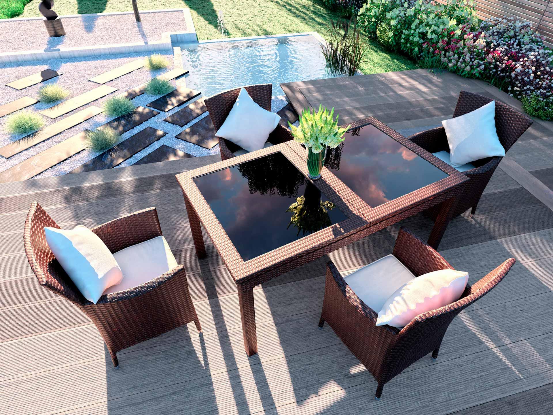 artelia jetzt rattan essgruppe ceresia m g nstig online kaufen. Black Bedroom Furniture Sets. Home Design Ideas