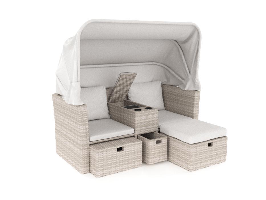 ARTELIA   Polyrattan Sitzgruppe Mit Ess  Und Lounge Tisch Für Terrasse Und  Balkon