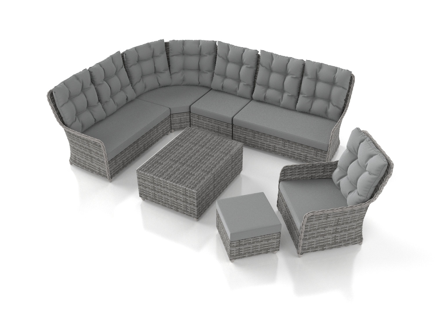 Artelia gartenm bel set im lounge design g nstig im for Couchlandschaft grau