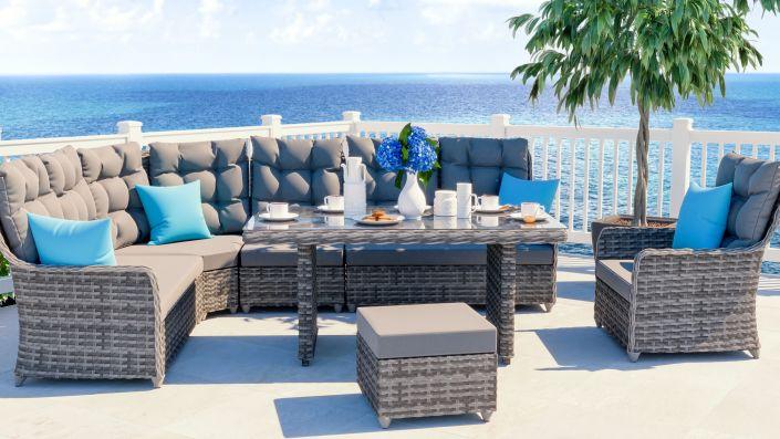 Großartig ARTELIA | Gartenmöbel Esstisch Set im Lounge Design günstig im  SV51