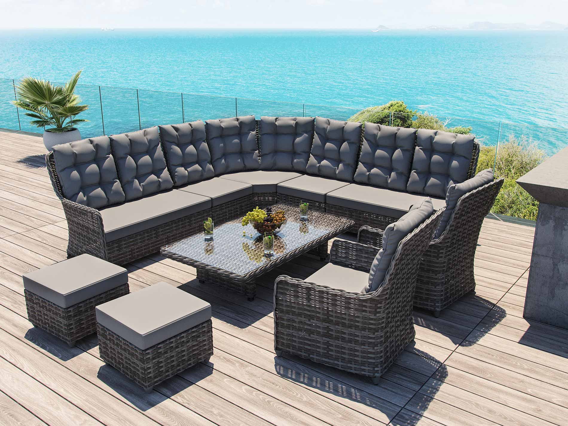 beste polyrattan dining lounge design ideen terrasse design ideen. Black Bedroom Furniture Sets. Home Design Ideas