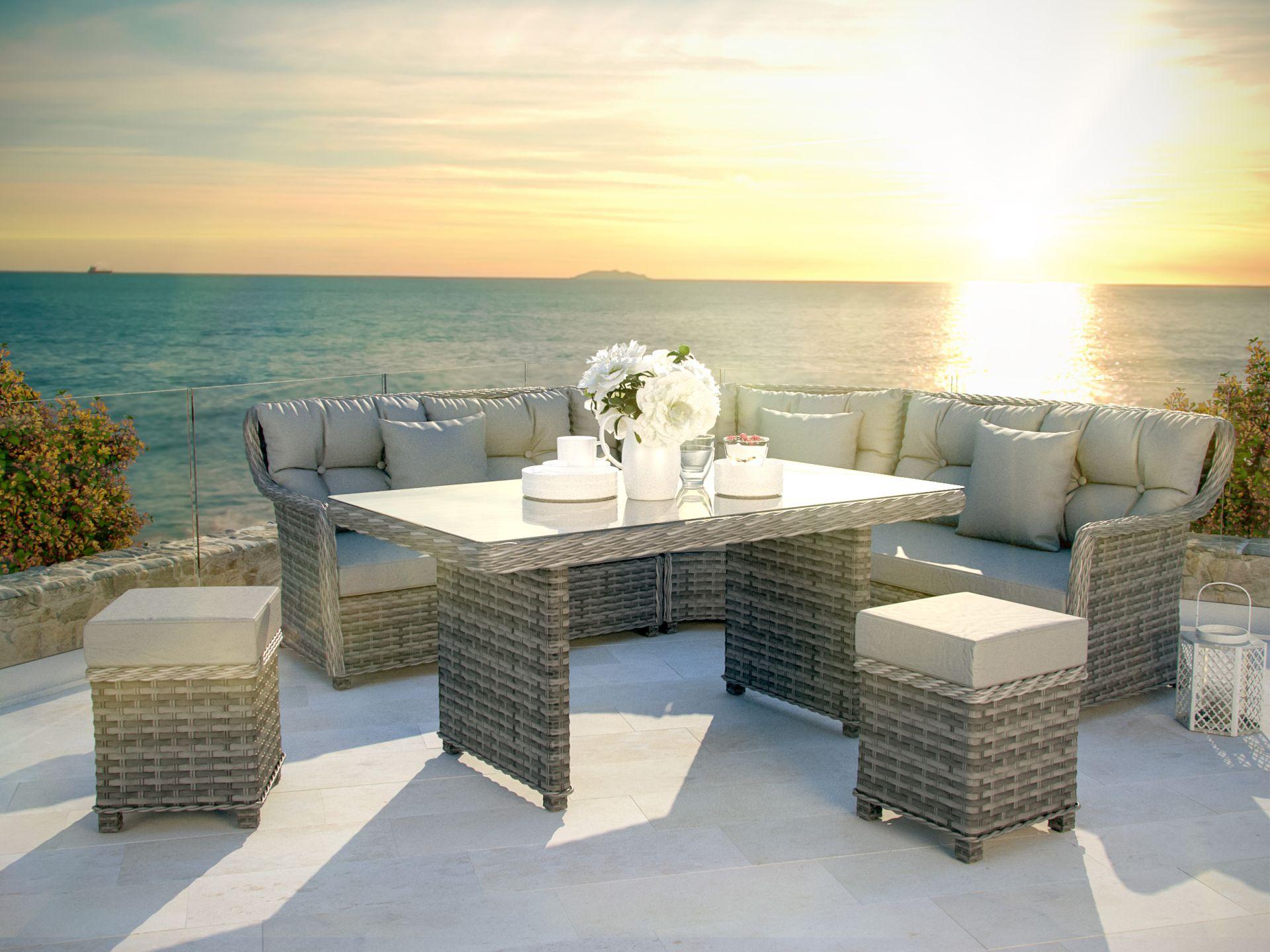 Esstisch Set Günstig ~ ARTELIA  Gartenmöbel Esstisch Set im Lounge Design günstig im Rattan Shop ka
