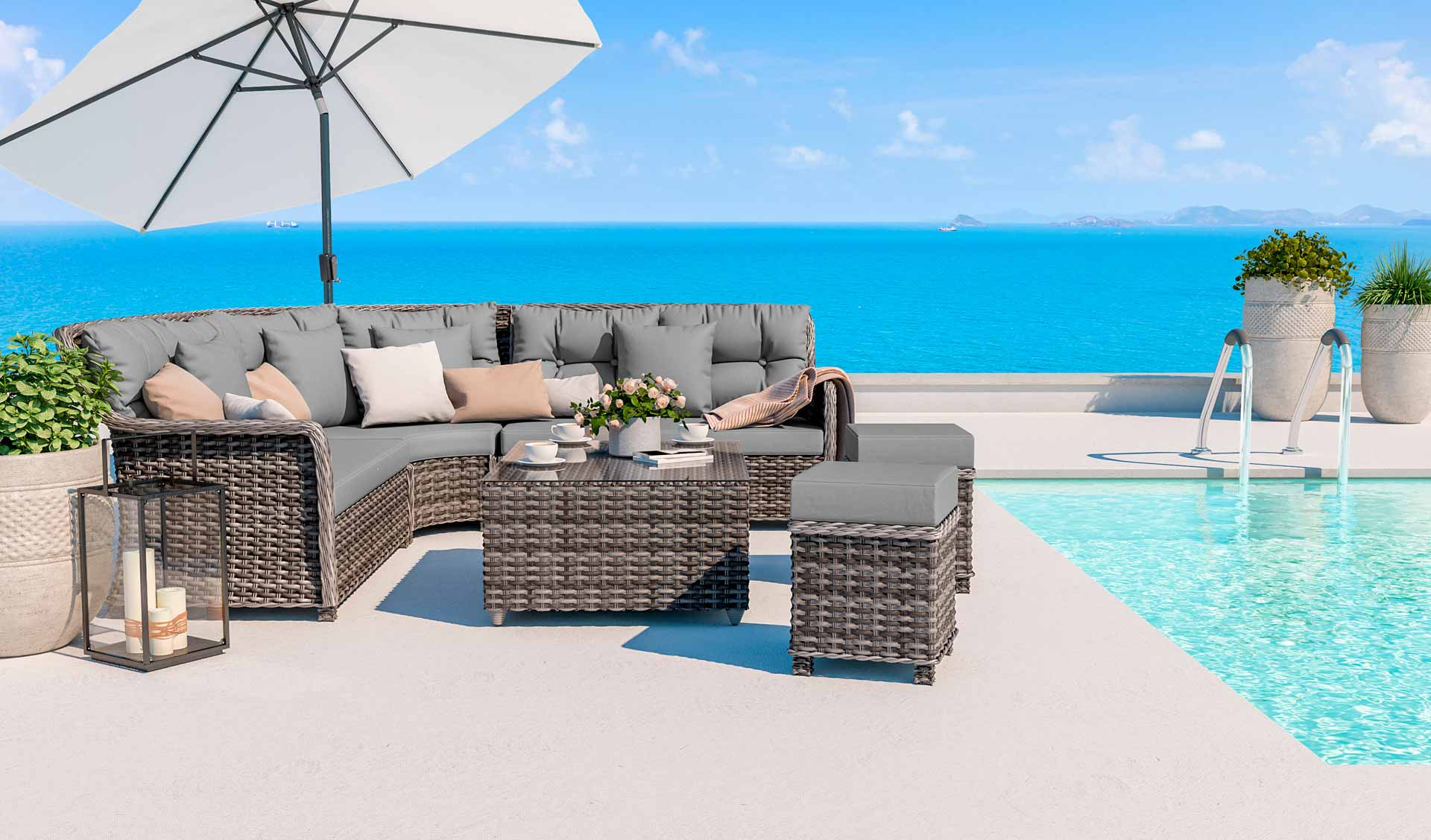 ARTELIA | Gartenmöbel Set im Lounge Design günstig im Rattan Shop ...