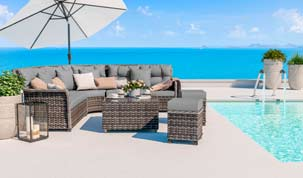Enigma Lounge - Polyrattan Bank Set