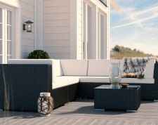 Epona S - Polyrattan Bank Set