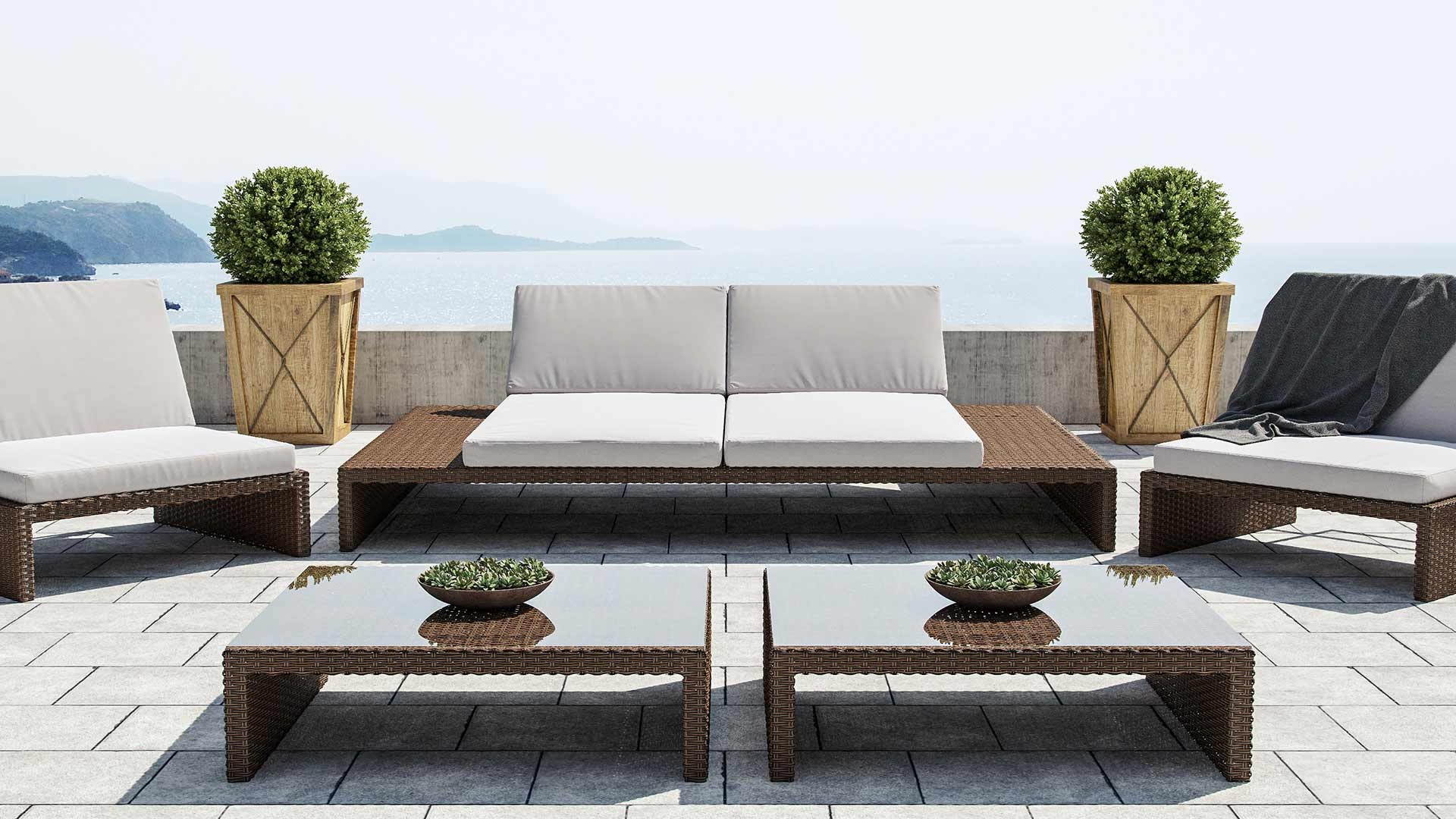 Loungemöbel outdoor  ARTELIA | Outdoor Loungemöbel Set für Terrasse und Lounge