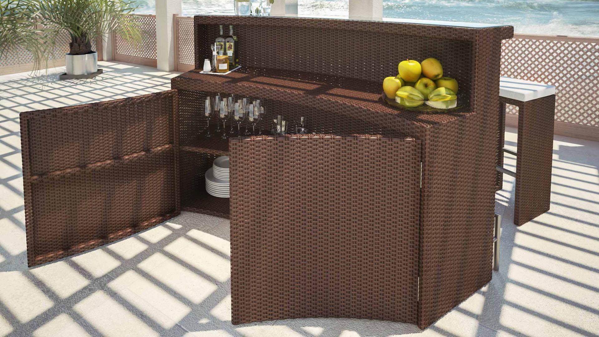 artelia jetzt die polyrattan sitzgruppe rattanbar flamario f r 3 personen kaufen. Black Bedroom Furniture Sets. Home Design Ideas