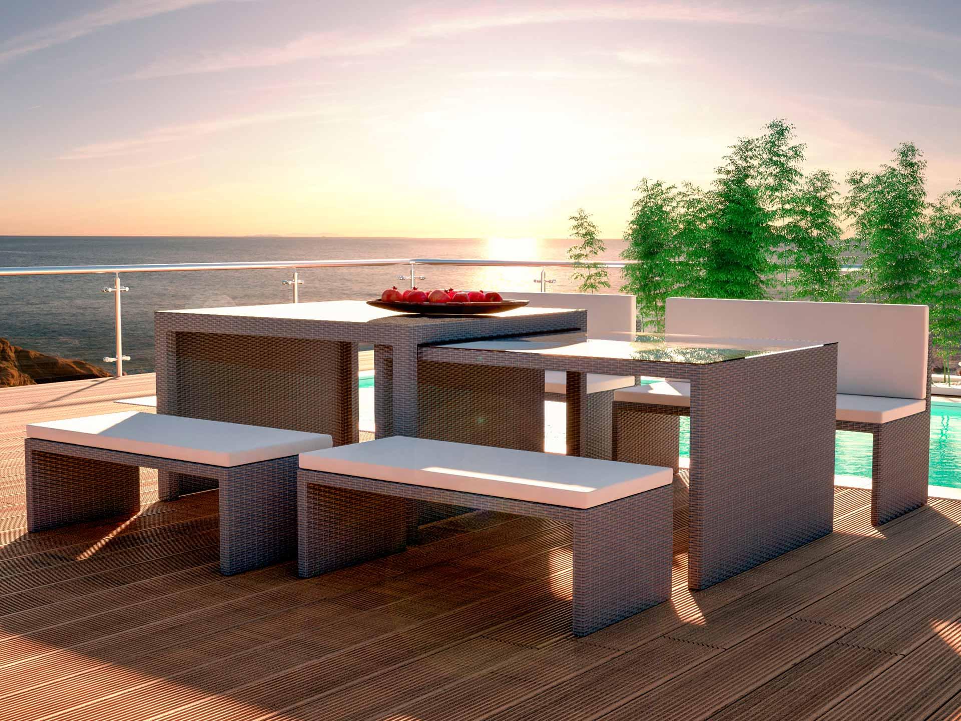 ARTELIA | Jetzt die Polyrattan Sitzgruppe Flamax für 8 Personen kaufen