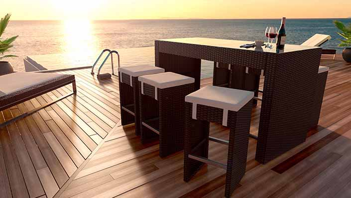 Flamingo M - Polyrattan Bar