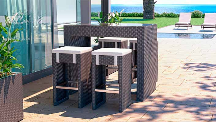 Flamingo S - Polyrattan Bar