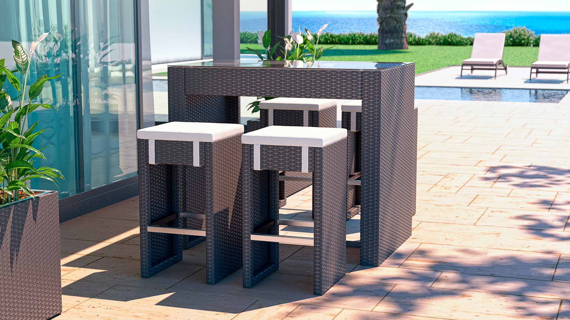Neu Rattan Set Balkon Design