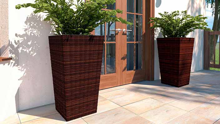 Flora L - Polyrattan Vase