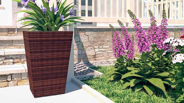 Flora M - Polyrattan Vase