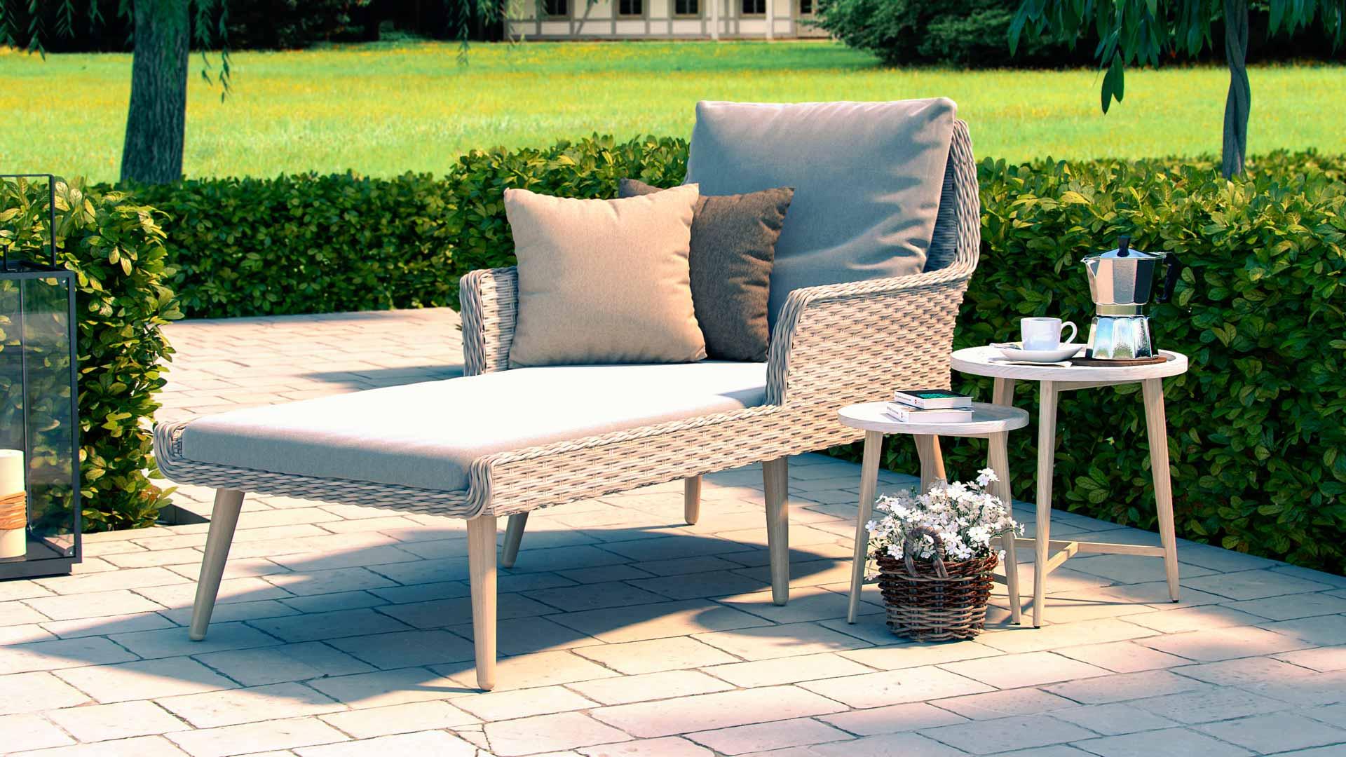 artelia polyrattan liege f r terrasse und balkon. Black Bedroom Furniture Sets. Home Design Ideas