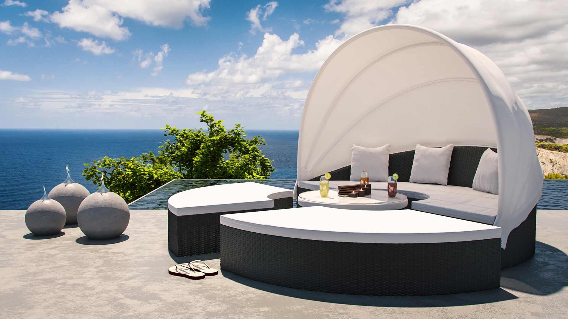 artelia polyrattan lounge relaxinsel hummel. Black Bedroom Furniture Sets. Home Design Ideas