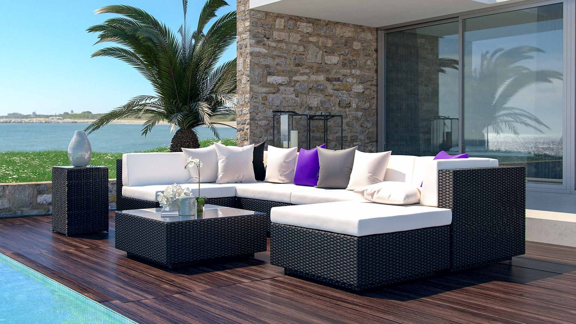 artelia rattan gartensofa aus polyrattan preiswert im gartenm bel shop bestellen. Black Bedroom Furniture Sets. Home Design Ideas