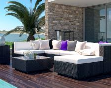 Larentia M - Polyrattan Bank Set