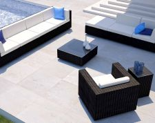 Larentia L - Polyrattan Bank Set
