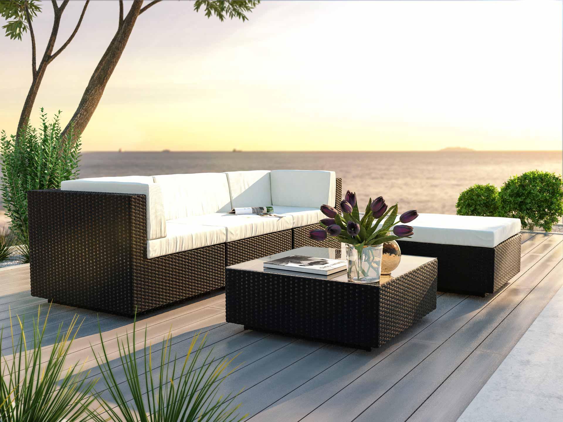 artelia rattan gartensofa aus polyrattan preiswert im gartenm bel shop bestellen. Black Bedroom Furniture Sets. Home Design Ideas