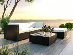 Larentia S - Polyrattan Bank Set