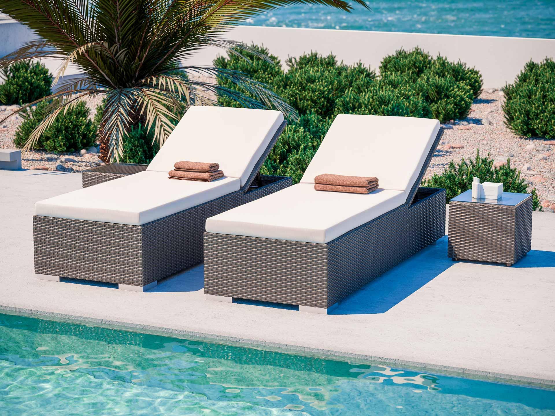 artelia rattan liegen likris l mit 2 beistelltischen aus polyrattan g nstig kaufen. Black Bedroom Furniture Sets. Home Design Ideas