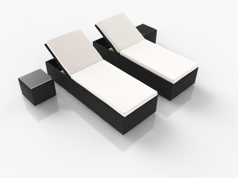 artelia rattan liegen likris l mit 2 beistelltischen aus. Black Bedroom Furniture Sets. Home Design Ideas
