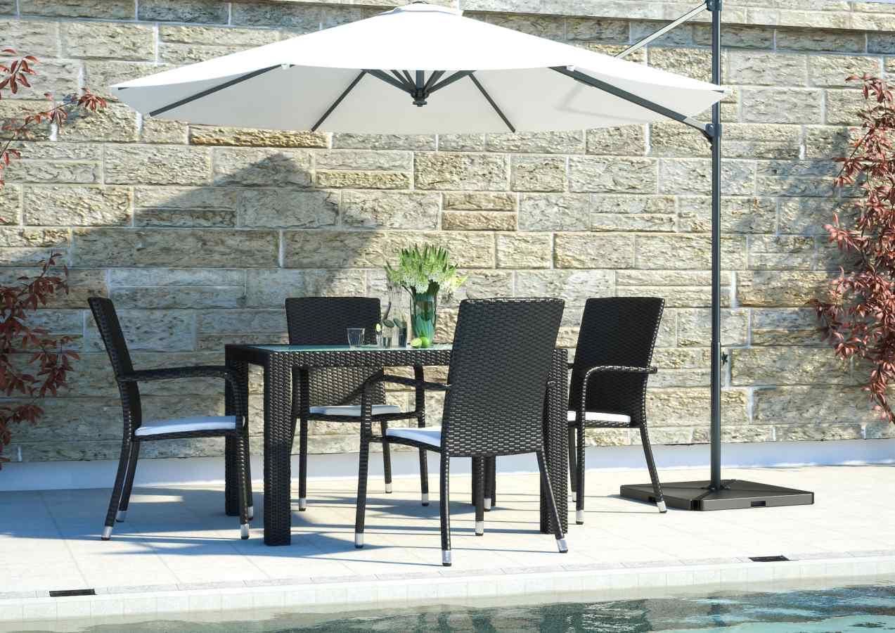 artelia jetzt die polyrattan sitzgruppe marzato s f r 4 personen kaufen. Black Bedroom Furniture Sets. Home Design Ideas