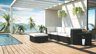 Mavinia S - Polyrattan Bank Set