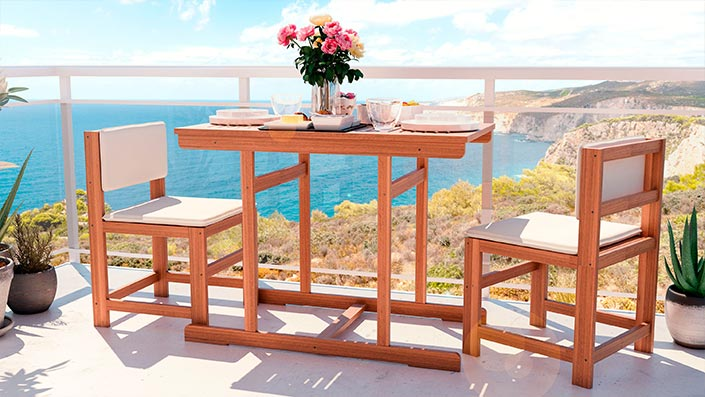 McNulty - Balkon Möbel Set