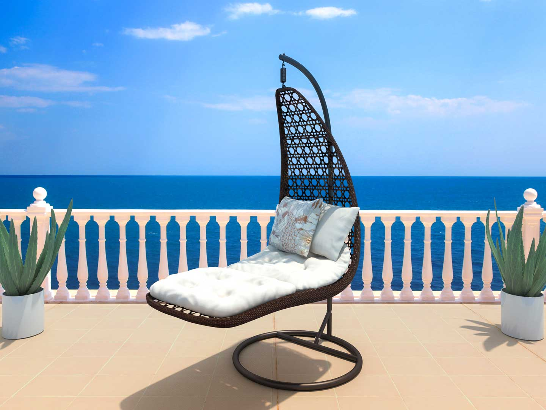 artelia polyrattan h ngesessel mit gestell g nstig kaufen. Black Bedroom Furniture Sets. Home Design Ideas