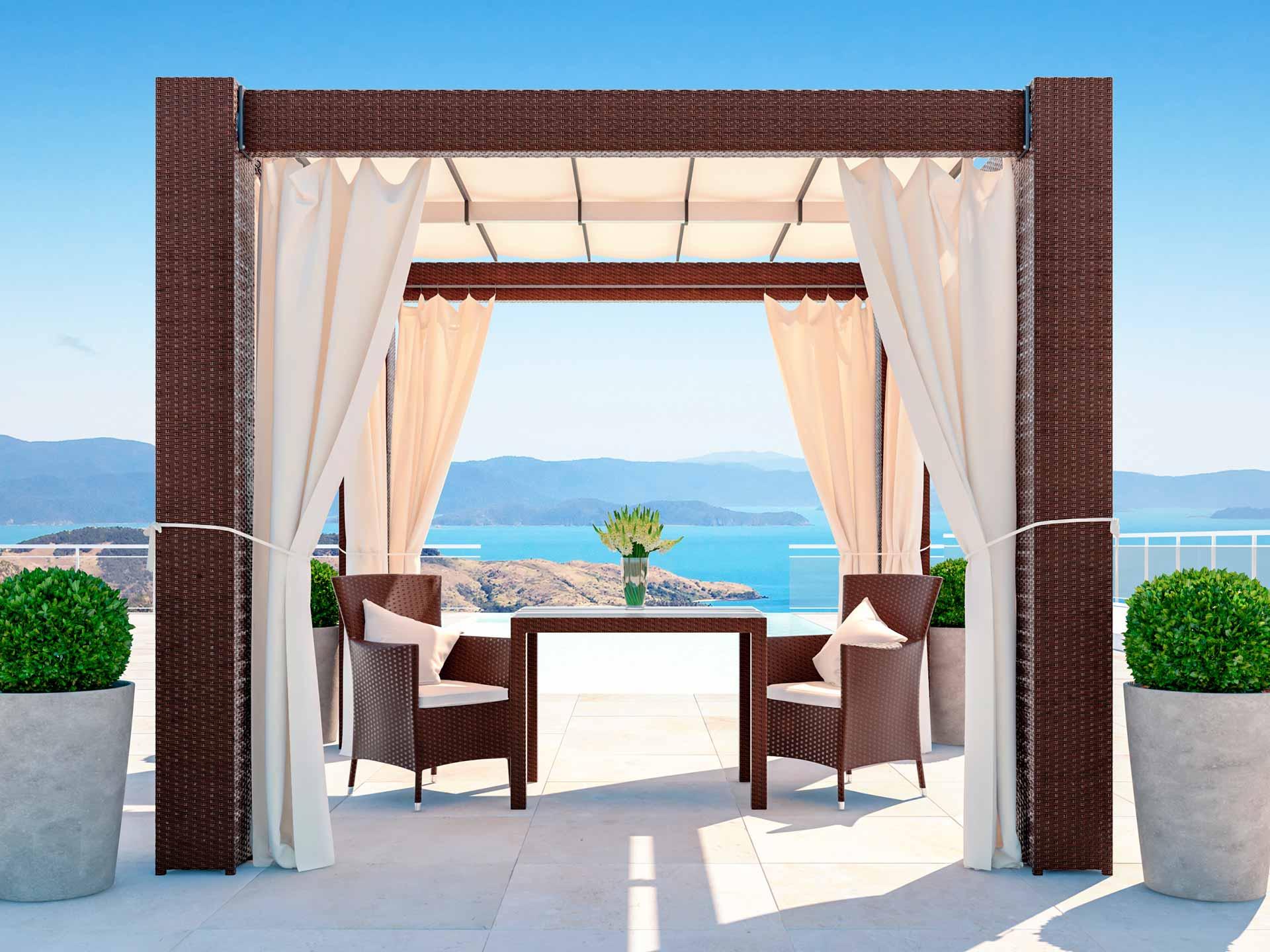 Interessant ARTELIA | Pavillion Luxus aus Rattan um Lounge Stil kaufen QV17
