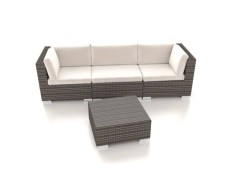 Radomi S - Polyrattan Bank Set